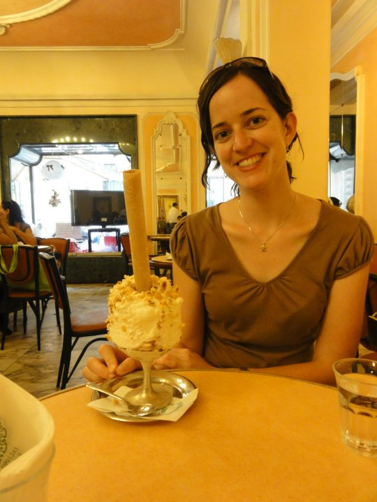 Gelato Sundae at Giolitti in Rome; October 2010